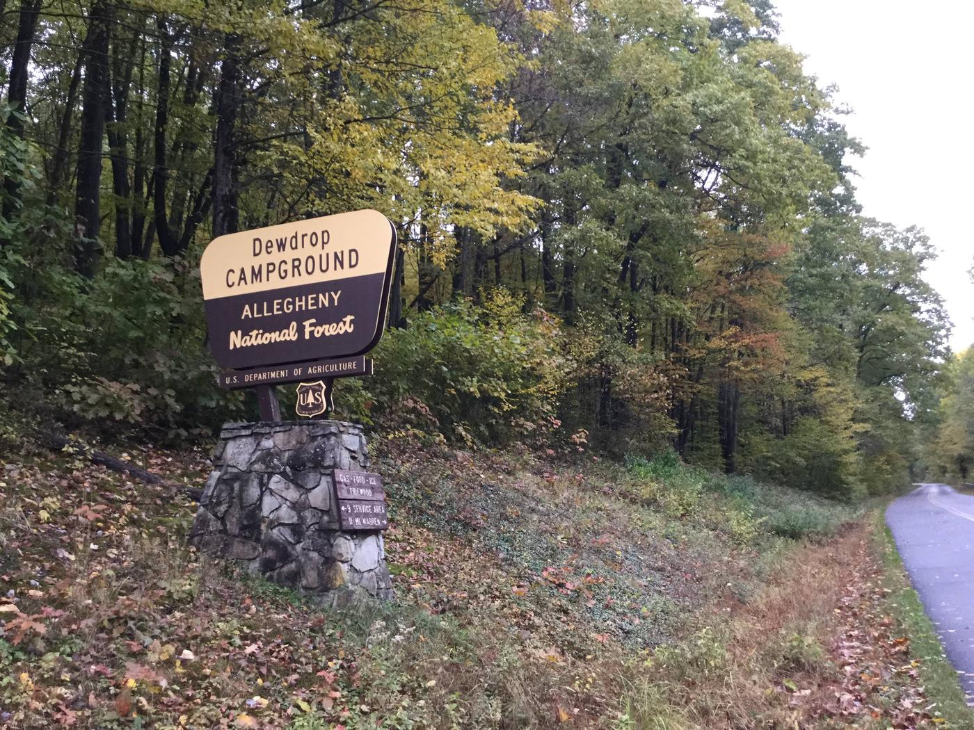 Dewdrop Recreation Area- Entrance Sign