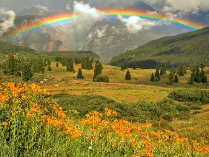 Rainbow in San Juan Mountains