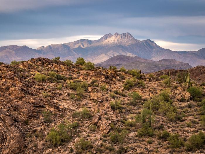 Superstition Mountains in Tonto National Forest along the Apache Trail