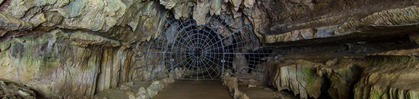 In order to enter Crystal Cave you must first pass through the famous historical Spider Web Gate. The gate was installed in 1939. The Spider Web Gate was installed in 1939.