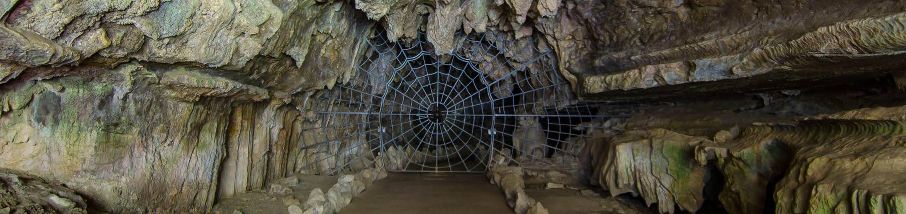 In order to enter Crystal Cave you must first pass through the famous historical Spider Web Gate. The gate was installed in 1939.The Spider Web Gate installed in 1939.