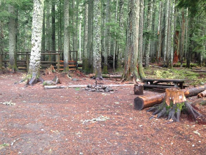 Horse Camp site 3H3 stalls and table
