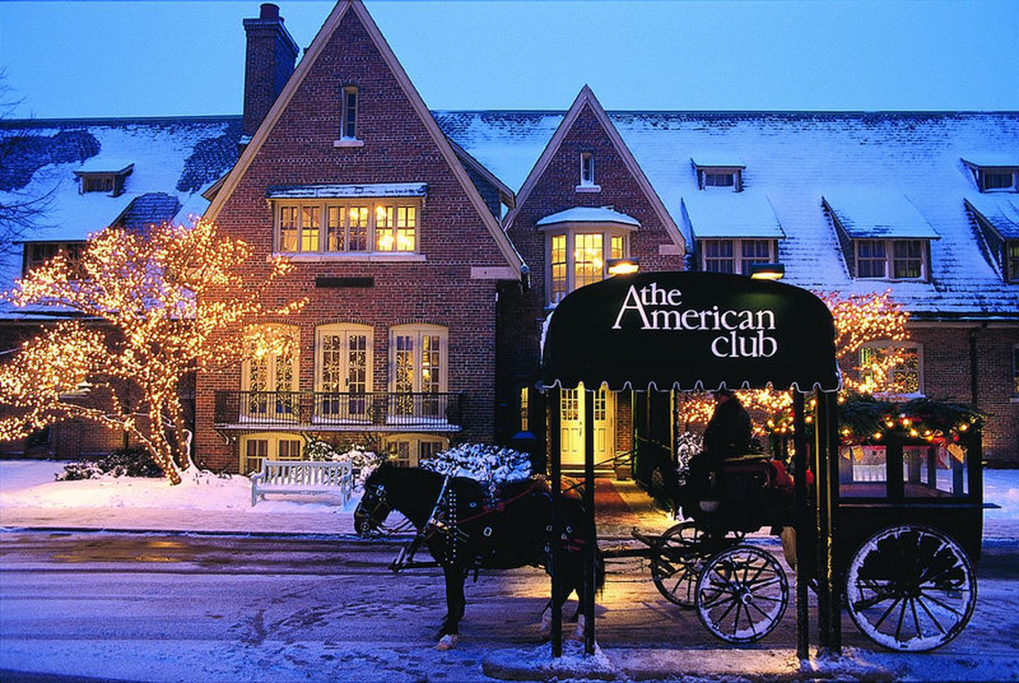 The American ClubFor special getaways, the American Club also offers accommodations in the adults-only Carriage House.