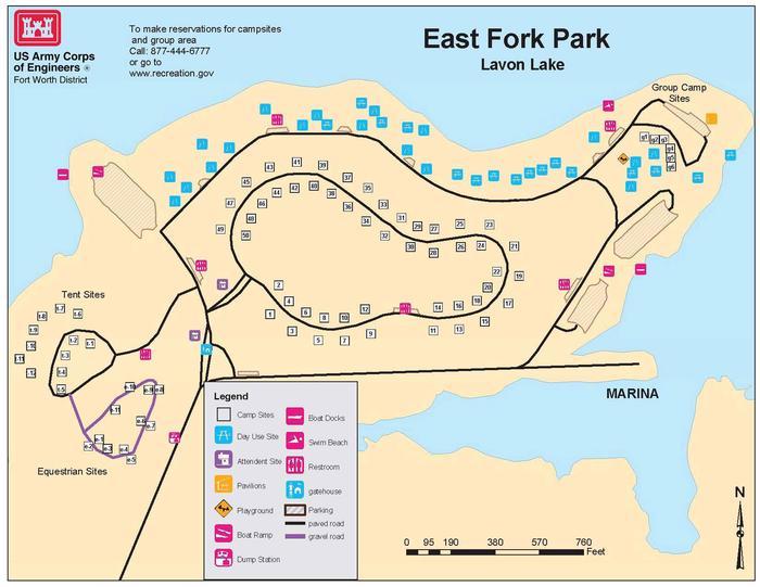 East Fork Park Map