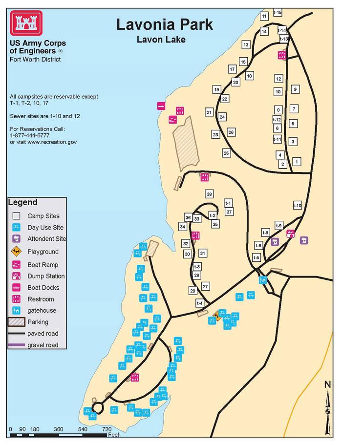 Lavonia Park Map