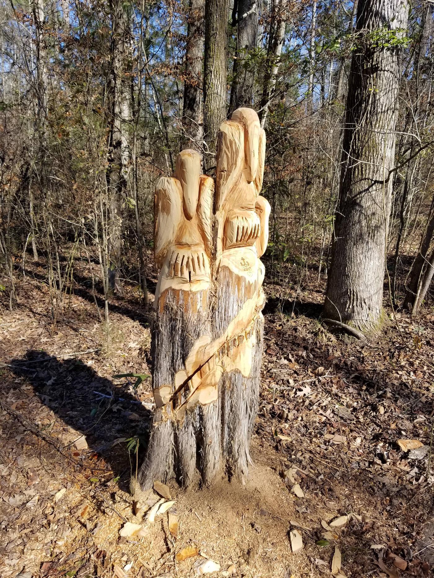 ForklandPelican Wood Carving