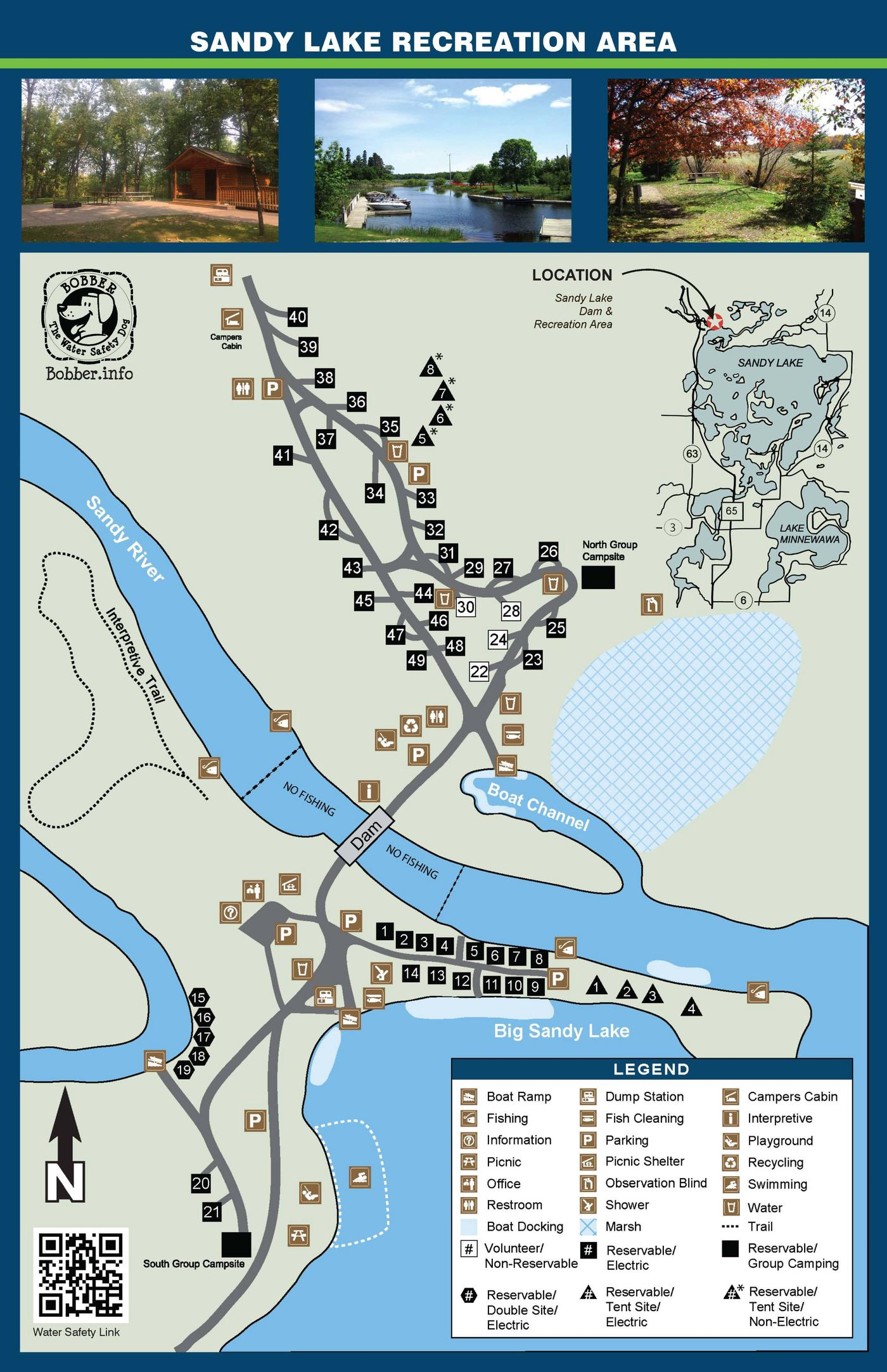 Campground Sites MapSandy Lake Campground Sites Map