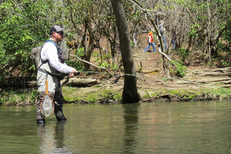 Fishing in Abrams CreekAbrams Creek