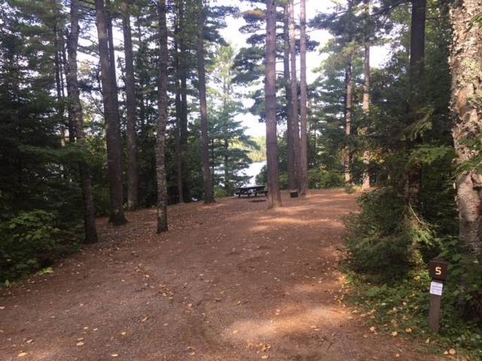Site 5Sawbill Lake Campground site 5