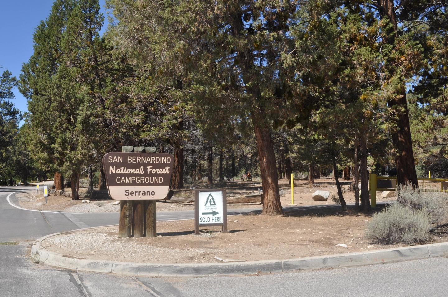 Serrano Campground Sign