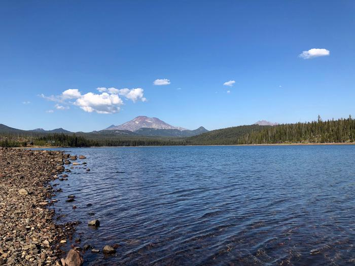 Elk Lake w/ view of South Sister