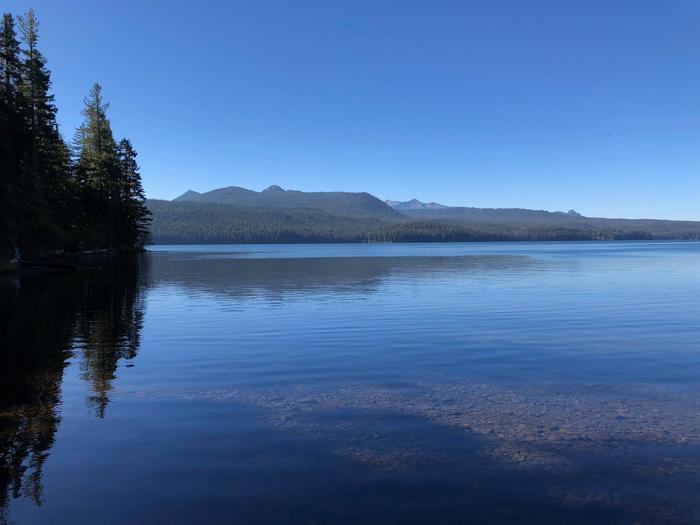 Sunset Cove Campground on Odell Lake