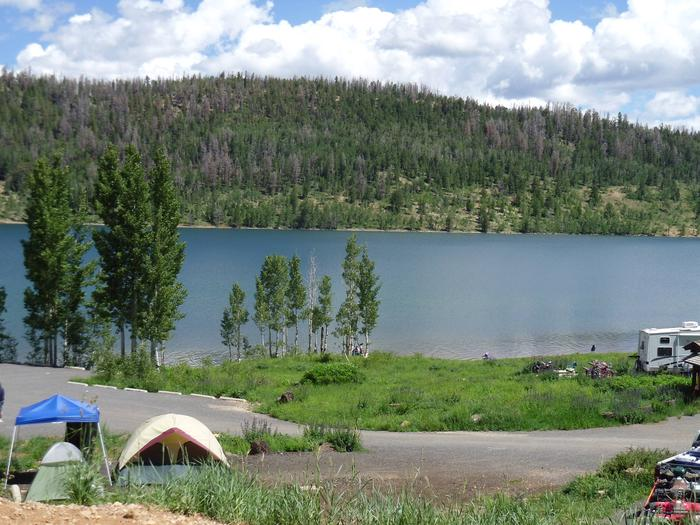 View of Navajo Lake from the campgroundSpruces Campground