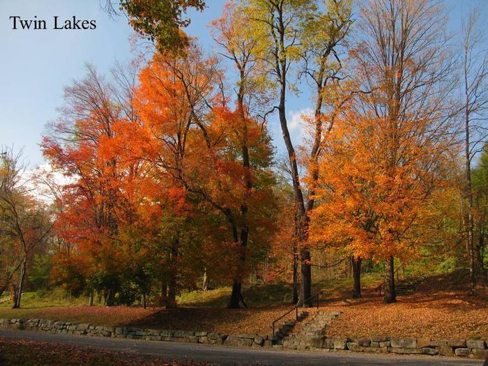 Twin Lakes in the fall