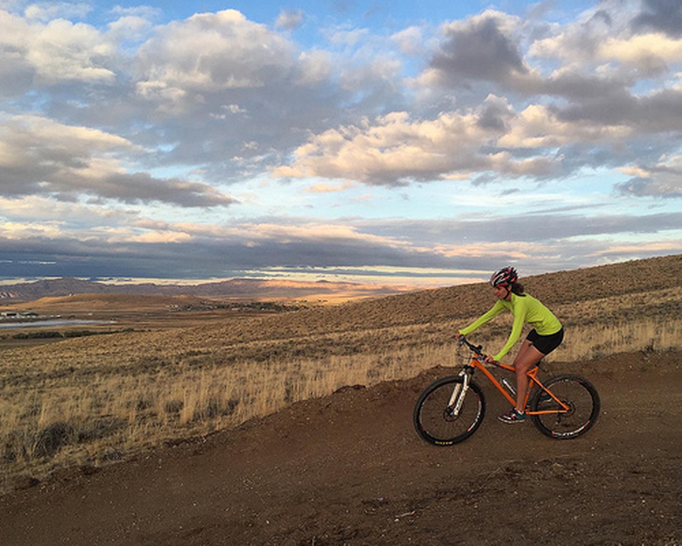 Beck Lake Bike TrailsA mountain biker rides one of the Beck Lake trails.