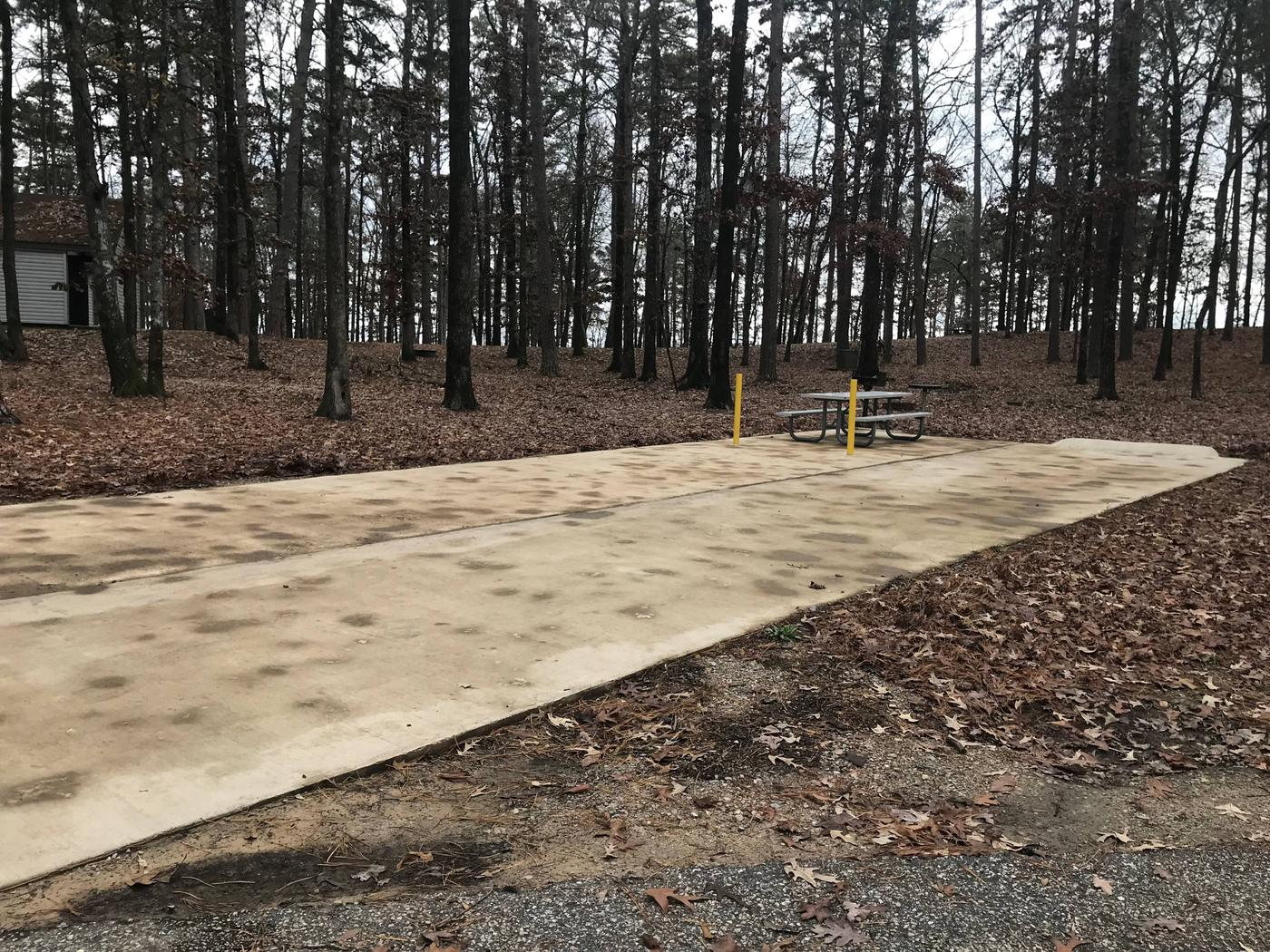 RV pad with water and electric hookupsSite 15