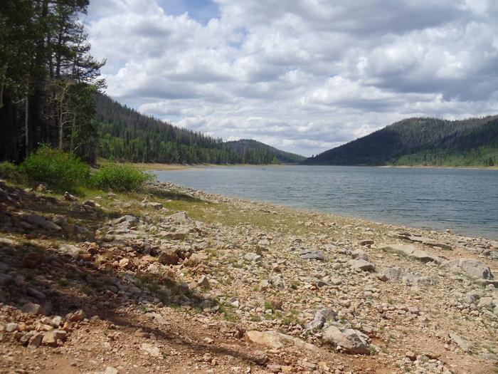 Navajo Lake View of Navajo lake near the campground