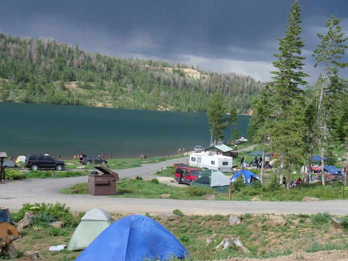 Spruces campground on a stormy daySpruces campground