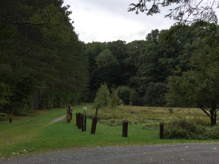 Hearts Content Recreation Area: Group Site Entrance