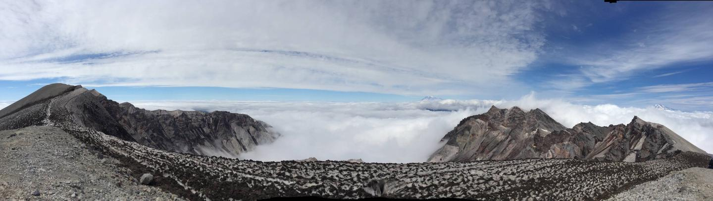 Clouds Roll in to the Crater