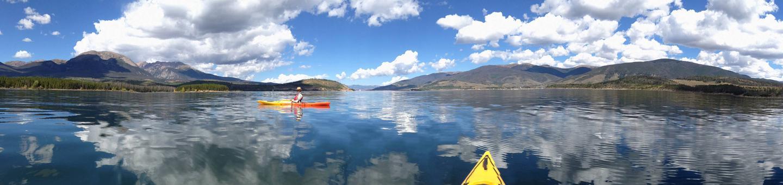 Dillon Reservoir from kayakView of Dillon Reservoir from kayak