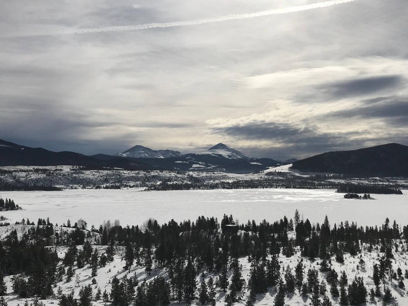 Dillon Reservoir In Winter