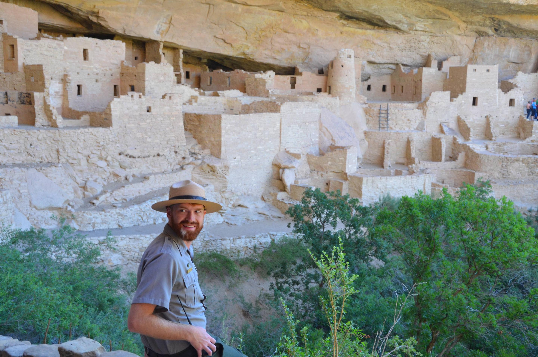 NPS Park Ranger Describing the Ancient Structures
