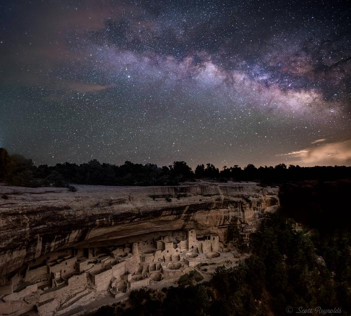Night Skies Over Ancient Cliff Dwellings