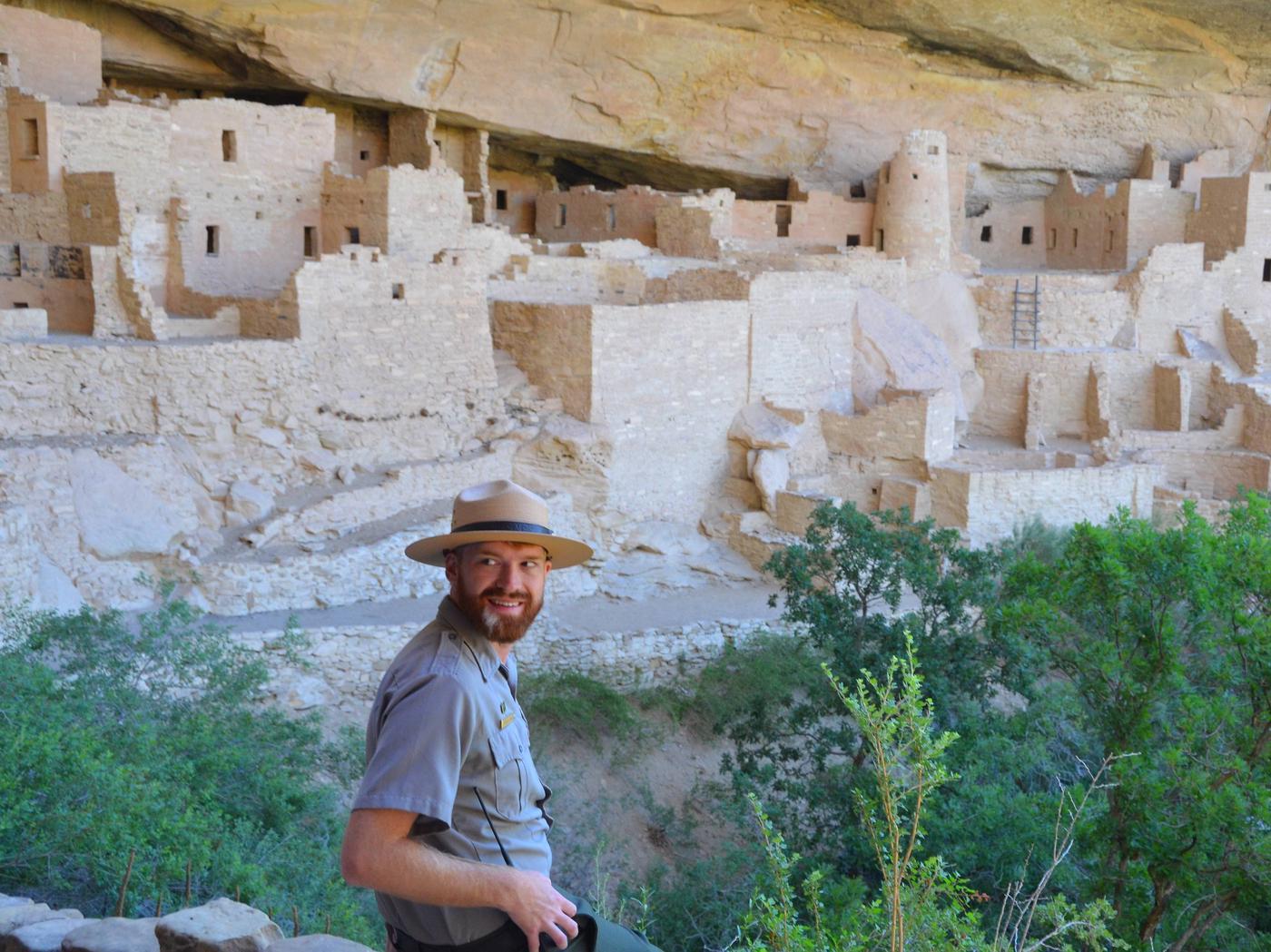 NPS Ranger Describing the Historic Cliff Dwellings at Mesa Verde