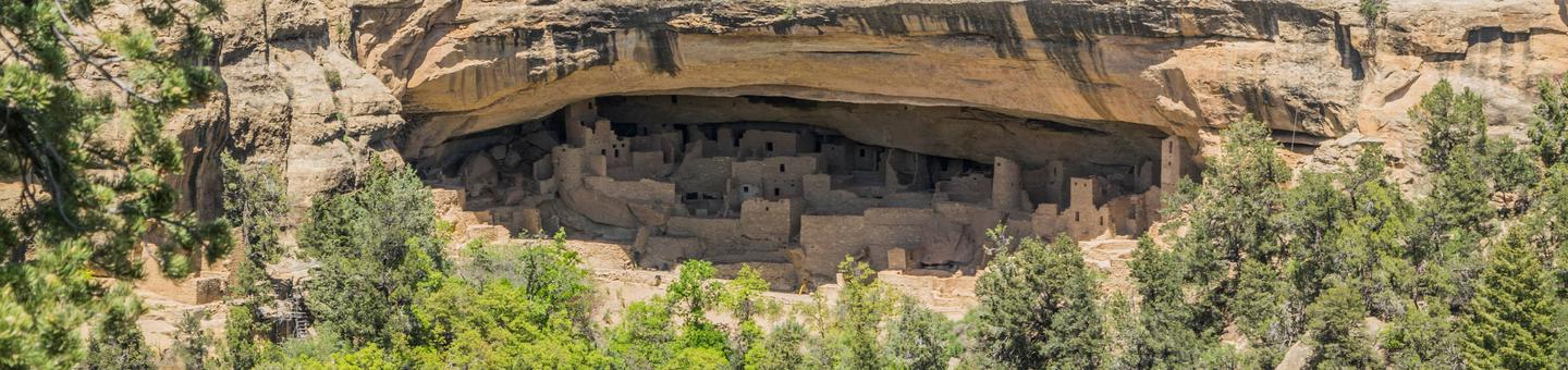 Ancient Cliff Dwellings at Mesa Verde National Park