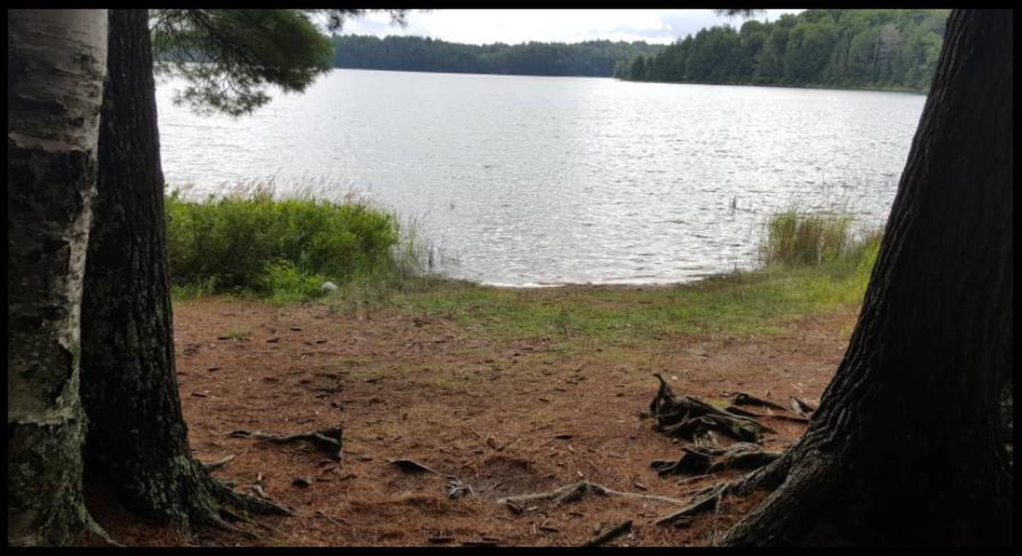 Loon Landing photo.This landing is a nice sandy beach for swimming with a level landing.