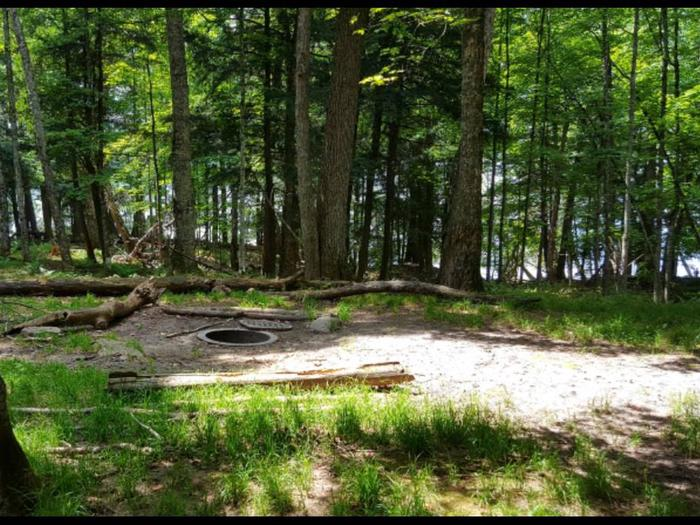 Pike 2 Campsite photo.This is a smaller campsite with unleveled ground that has room available for one tent.