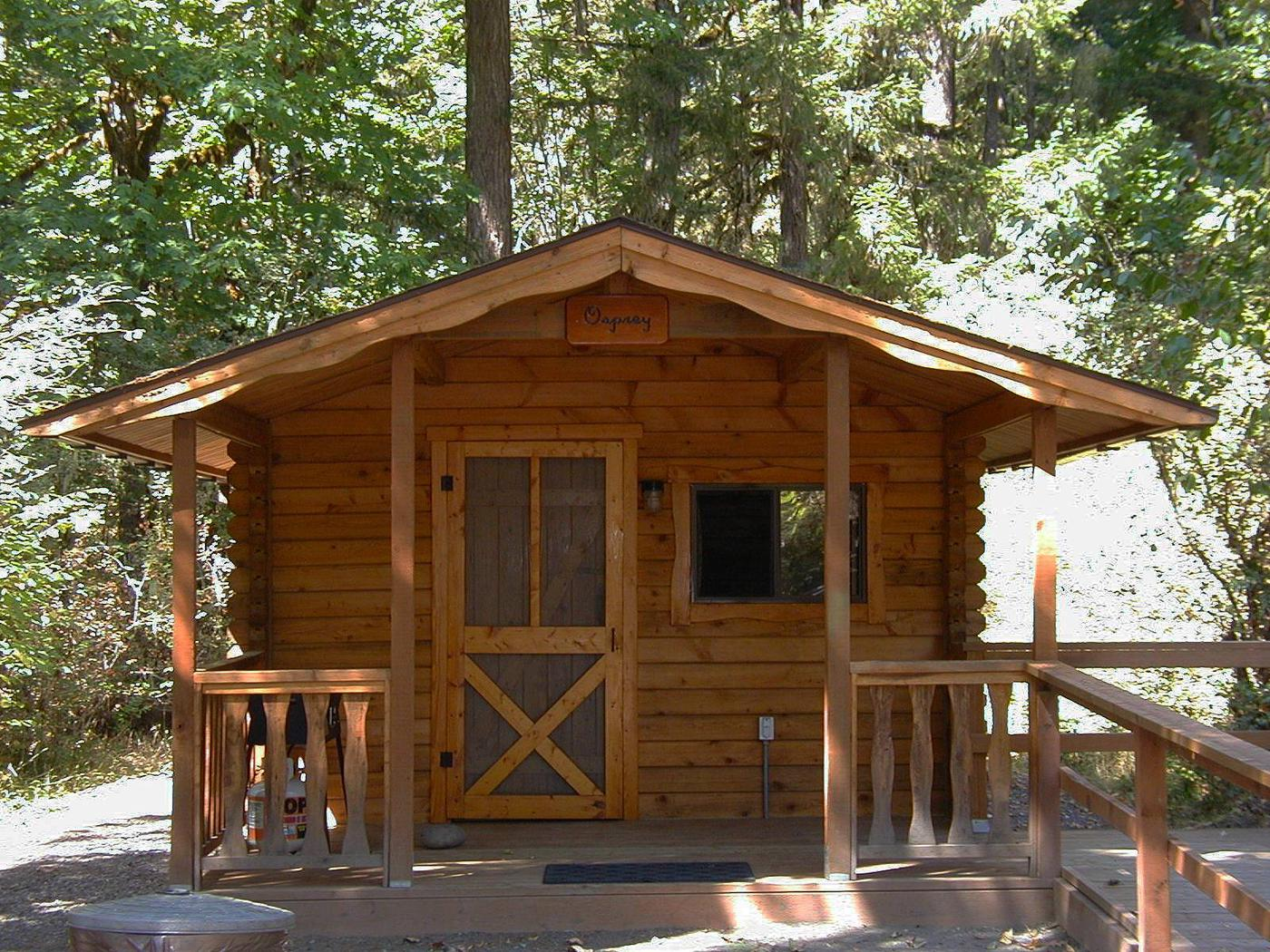one of the cabins at Fishermen's BendOsprey cabin at Fishermen's Bend