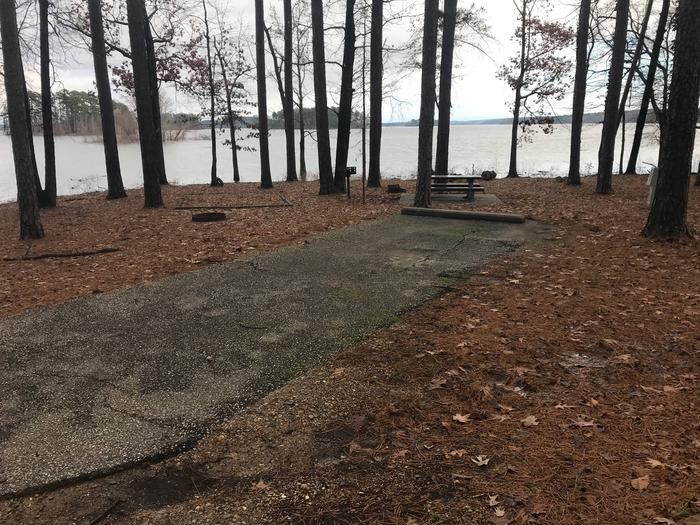 RV pad with water and electric hookupsSite 42
