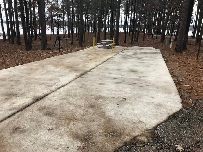 RV pad with water and electric hookupsSite 48