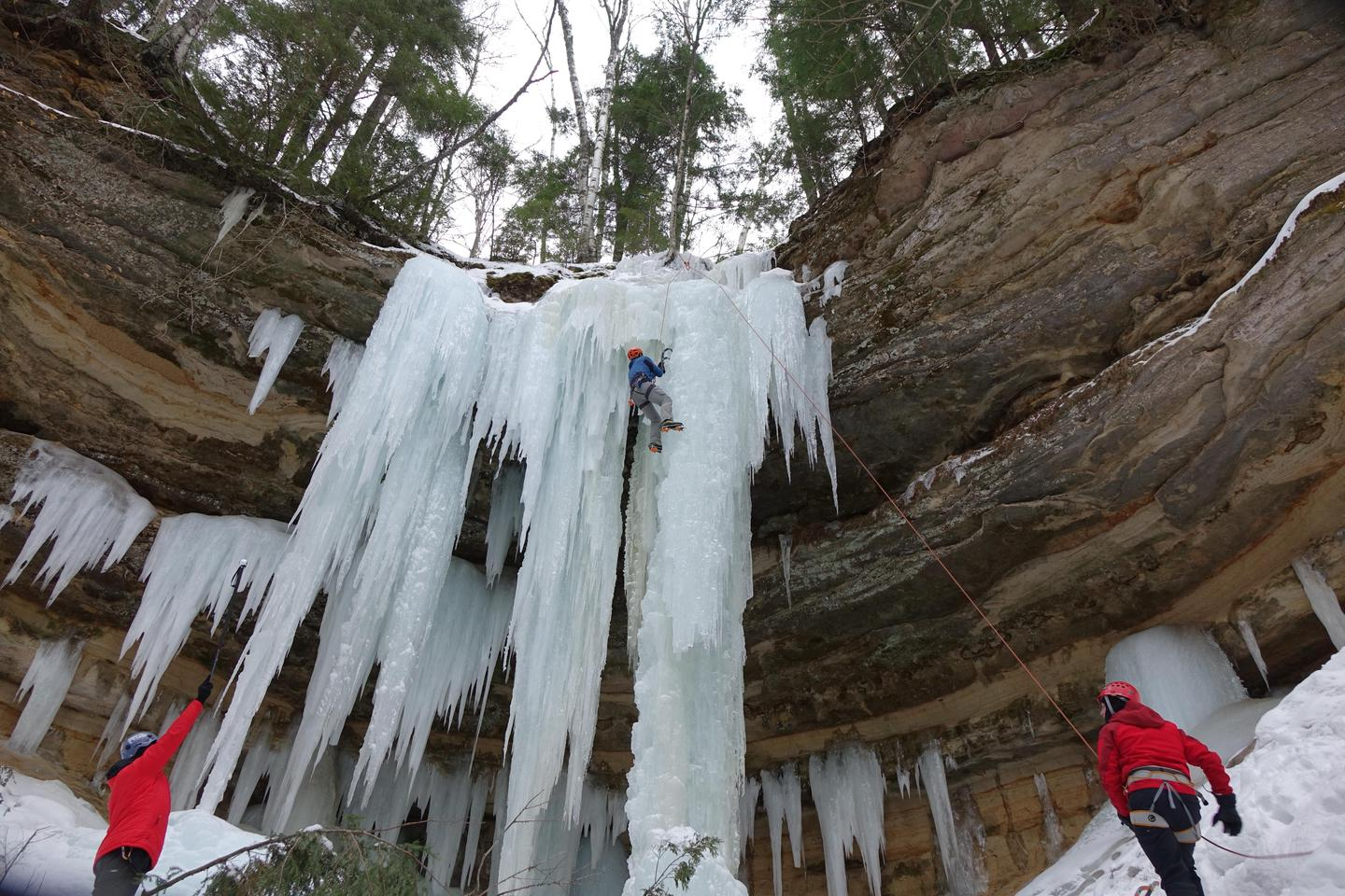 Ice ClimbingIce climbing is a popular winter activity.