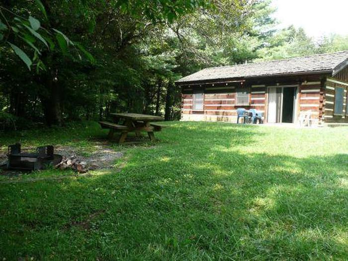 Stony Fork Cabin Back Yard