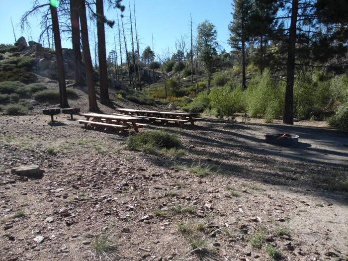 Picnic Tables at Grays Peak Group Campground