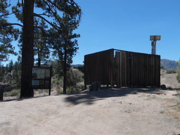 Ironwood open air vault bathroomvault bathroom