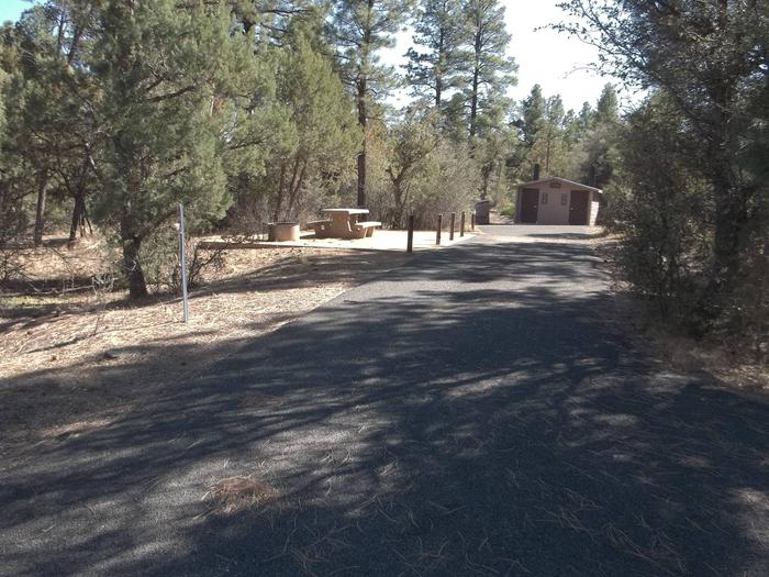 Entrance to Hilltop Campground with accessible Picnic Area and Vault Toilet Hilltop Campground Picnic Area
