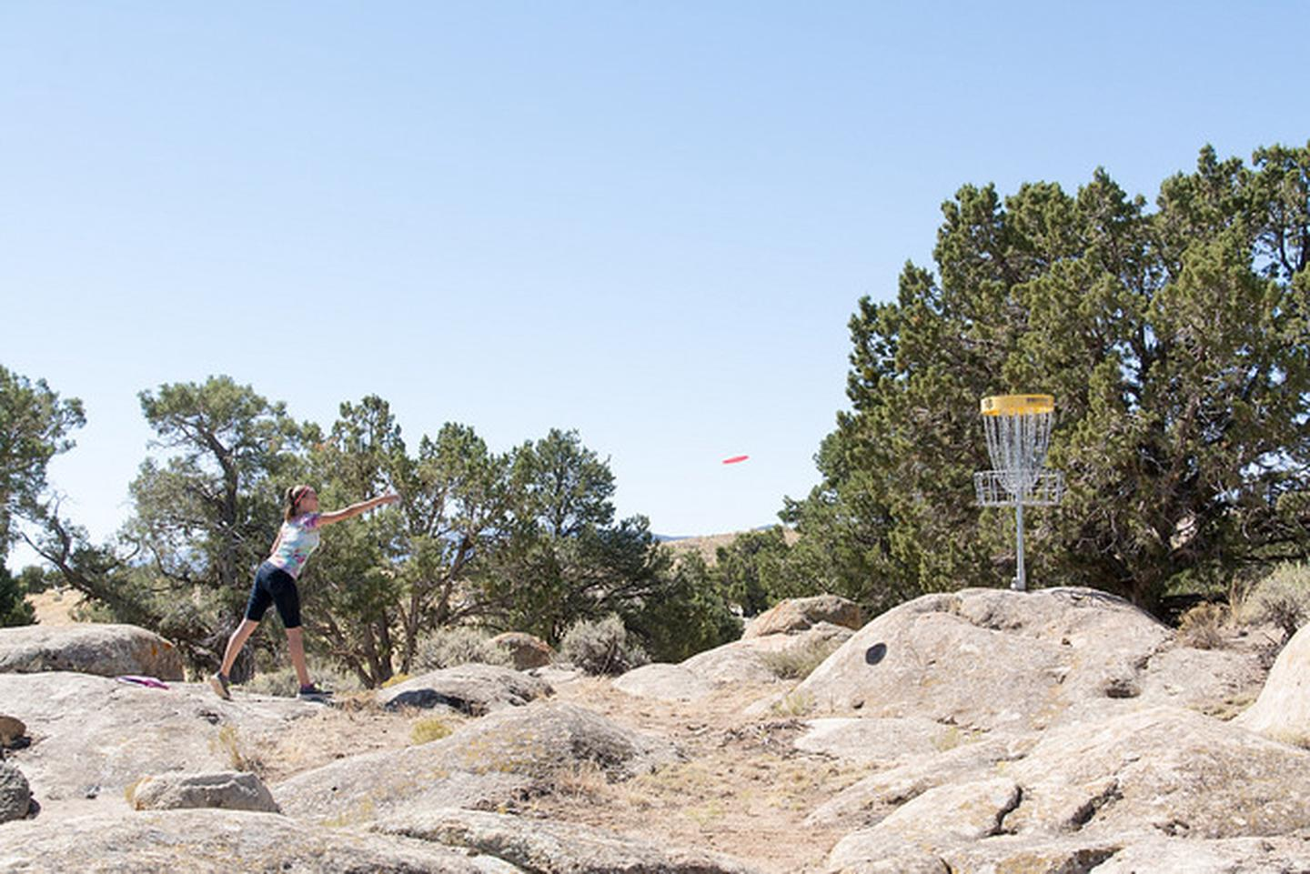 Three Peaks Disc Golf CourseThree Peaks Recreation Area provides a challenging disc golf course.
