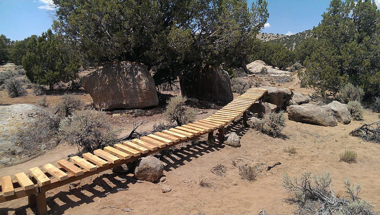 Three Peaks Mountain Biking BridgeOne of the many mountain biking bridges out at Three Peaks Recreation Area.