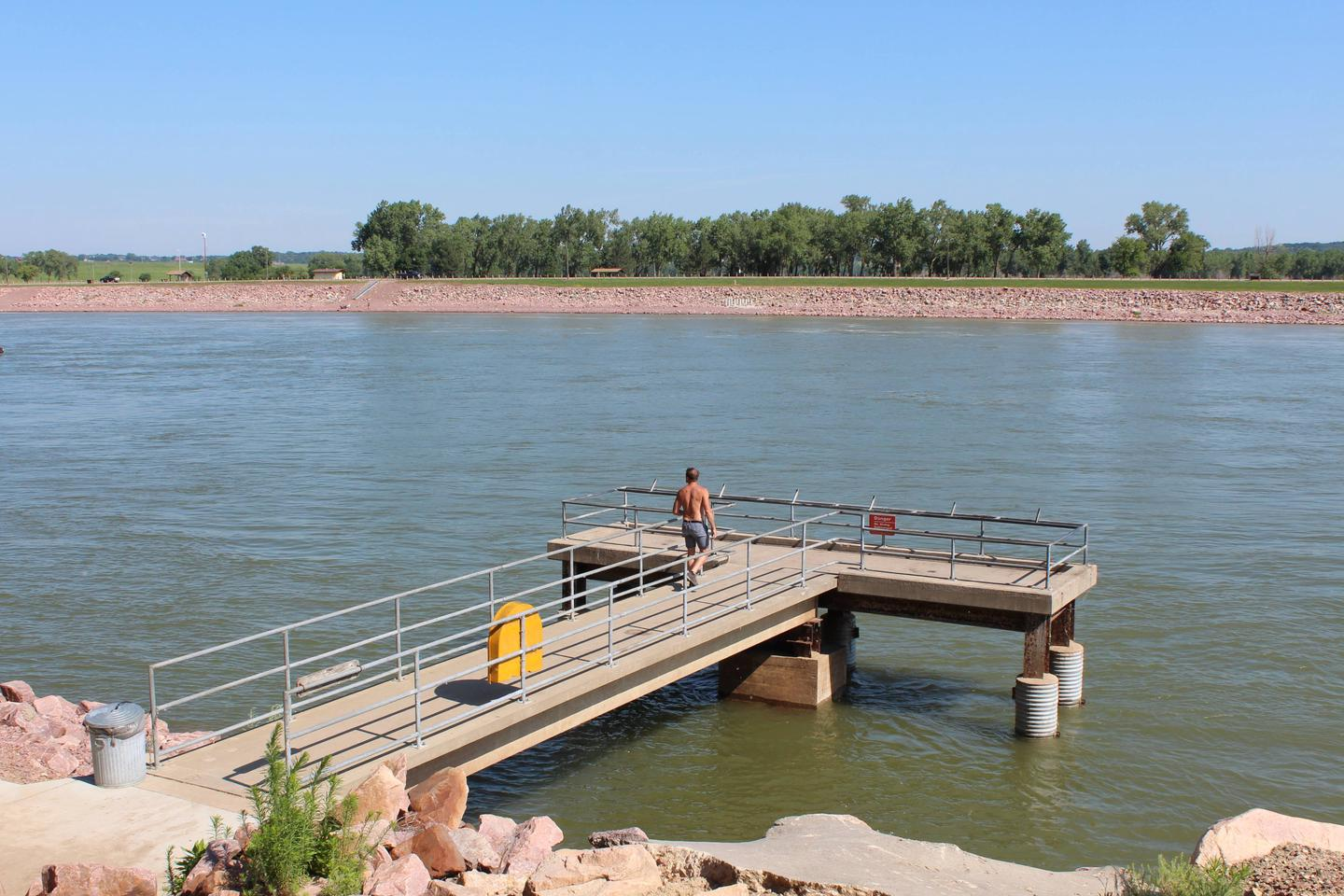 Accessible Fishing Pier on the Missouri River