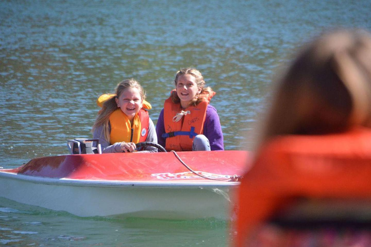 Jake's Day Event  at Cold BrookKid's learning how to operate a motor boat along with water safety