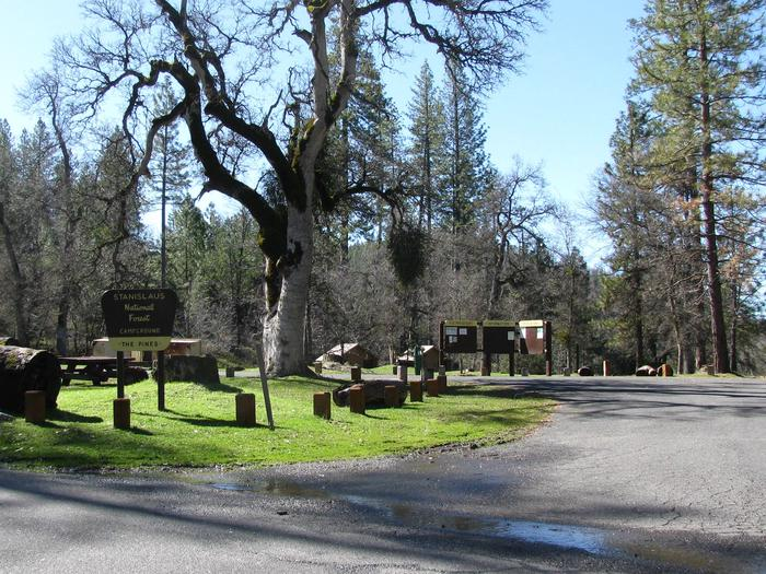 The Pines Campground Entrance