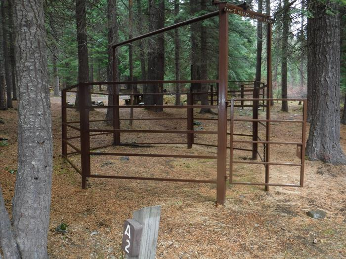 Corral at A2Kelsay Valley Horse Camp