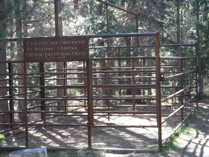 Corral at A5Kelsay Valley Horse Camp