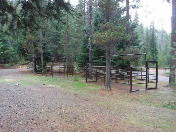 Corrals at B3Kelsay Valley Horse Camp