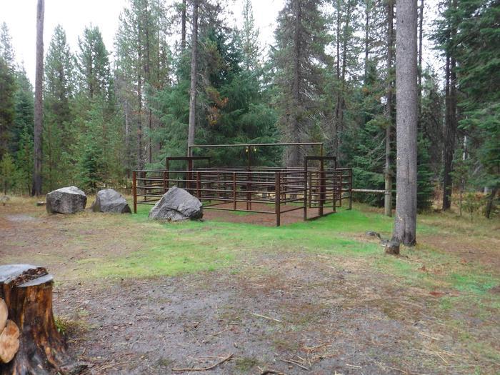Corrals at B4Kelsay Valley Horse Camp