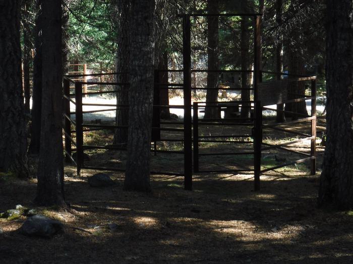 Corrals at B6Kelsay Valley Horse Camp